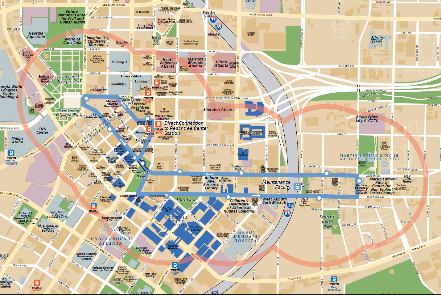 Georgia State University Map Swimnovacom - Georgia map template